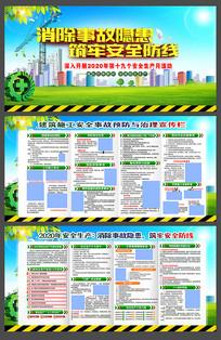 建筑工地2020全国安全生产月展板