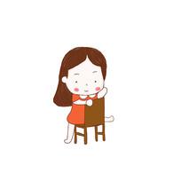 卡通手绘小女孩