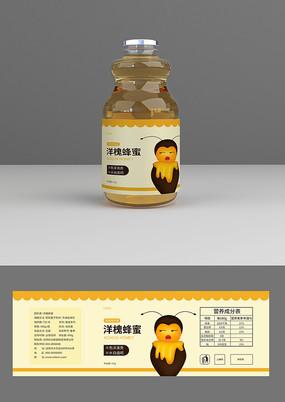 可爱小蜜蜂蜂蜜瓶贴
