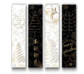 时尚圣诞树高级圣诞吊旗