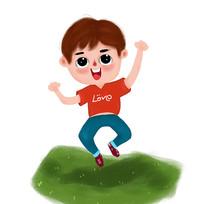 跳跃的男孩