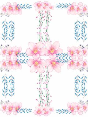 艺术植物鲜花印花图案