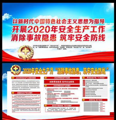 2020安全生产月宣传学习展板