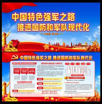 实施改革强军战略走中国特色强军之路展板