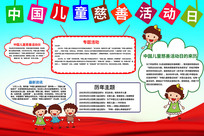中国儿童慈善活动日手抄报