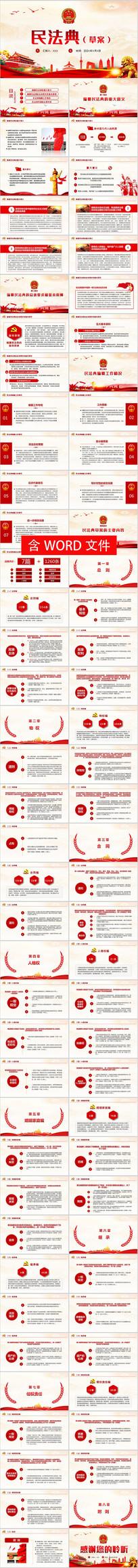 中华人民共和国民法典草案学习解读党建