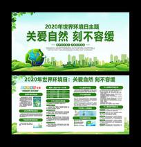 2020世界环境主题日活动宣传展板