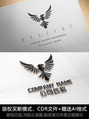 老鹰logo标志设计