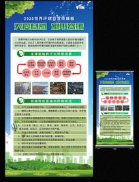 世界环境日展架