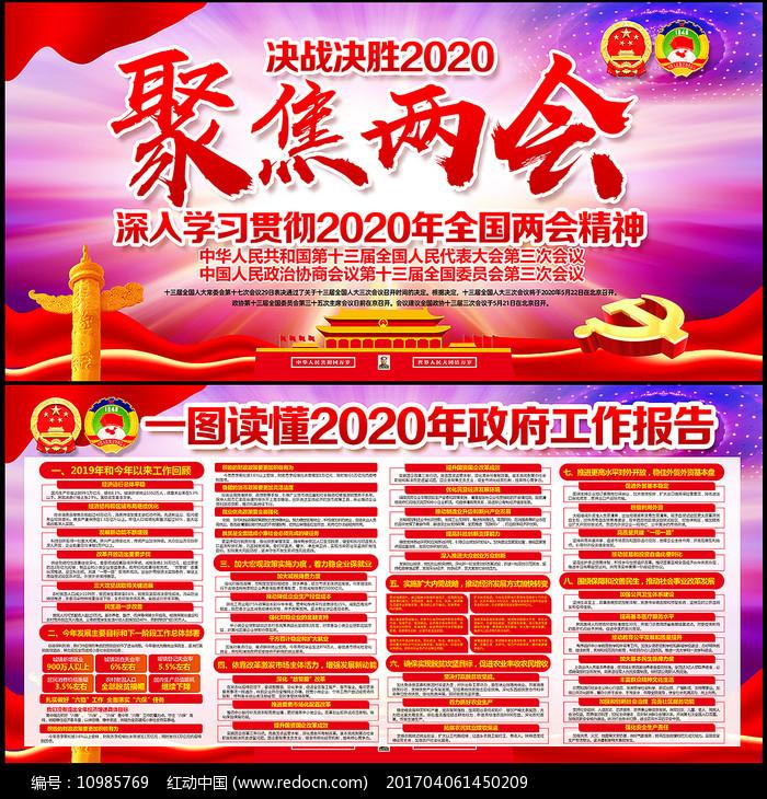 2020两会宣传展板