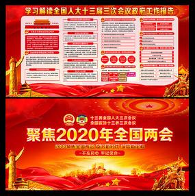 2020全国两会政府工作报告解读展板