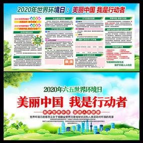 2020世界环境日主题宣传展板