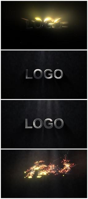 暗黑logo视频模板