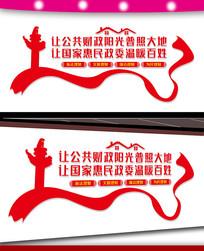 财政局大厅文化墙