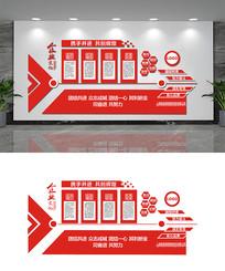 红色创意企业文化墙