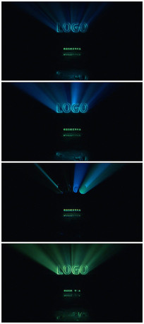 科技logo发光片头视频模板