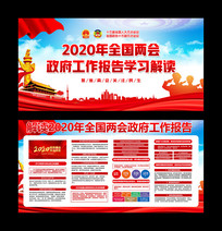 2020全国两会政府工作报告学习解读展板