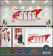 红色飘带入党誓词党员权利和义务党建文化墙