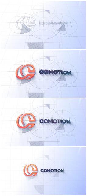 简洁企业logo视频模板