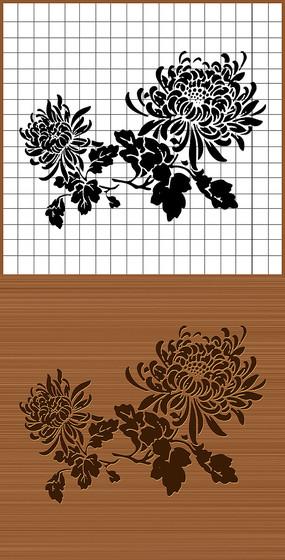 菊花矢量雕刻素材图