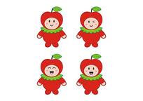 卡通水果玩具公仔娃娃红苹果