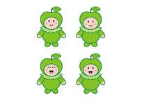 卡通水果玩具公仔娃娃青苹果