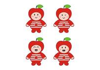 卡通水果玩具公仔娃娃条纹衫红苹果