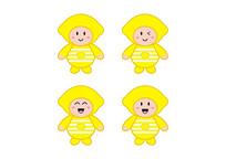 卡通水果玩具公仔娃娃条纹衫黄柠檬