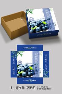 蓝莓产品包装盒设计