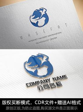 美人鱼logo标志公司商标设计