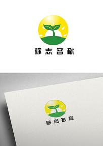 农业禾苗太阳标志