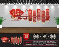 新中式党支部党员活动室党建文化墙图片