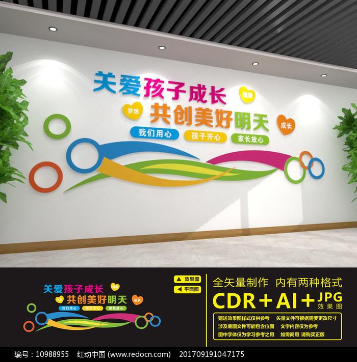 幼儿园卡通背景墙文化墙图片