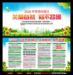 2020年世界环境日展板宣传栏
