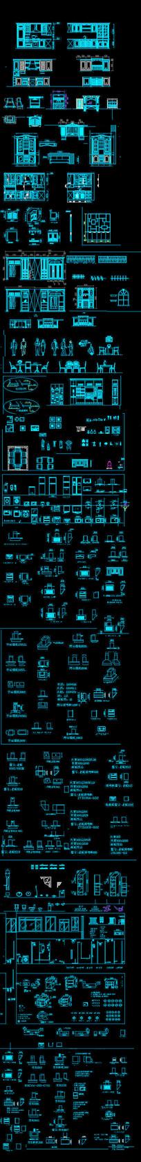 橱柜模块CAD图块素材