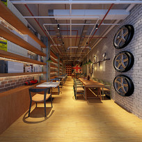 仿古餐厅3D模型