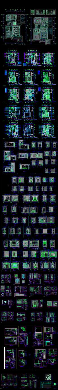 法式家居设计cad施工图