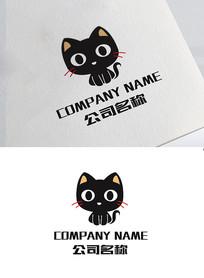 黑色小猫宠物店标志