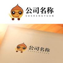 栗卡通logo设计