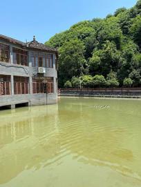 临水中式青瓦建筑意向图
