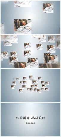 图片照片汇聚LOGO片头视频模板