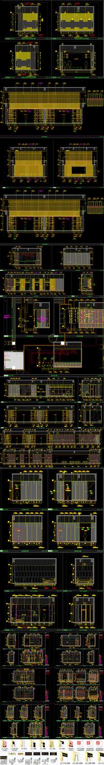 现代二层售楼部室内CAD施工图