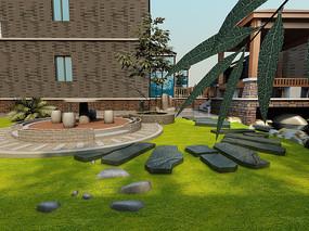 现代庭院景观3D模型
