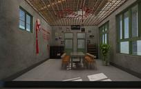 乡村会议室3D模型