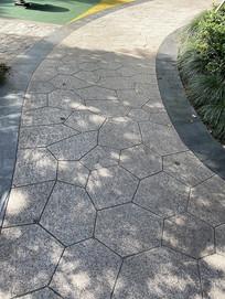 小区园路公园园路铺装花岗岩碎拼铺装意向图