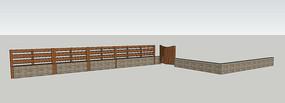 新中式庭院围合门围栏