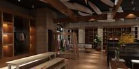 休闲大厅3D模型