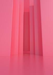 原创粉色3D海报背景墙