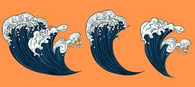 原创浮世绘海浪