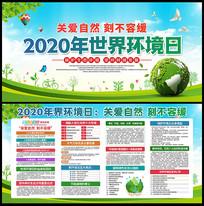 2020年世界环境日宣传展板设计